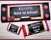 Printable Back to School Candy Bar Wrappers for Teachers and Students