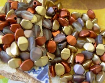 Assorted Beads, Czech Glass Beads, Pinch Glass Beads, 5mm, 10% Off (150) #1DP