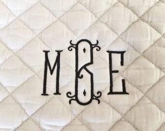 English All Purpose Saddle Pad-Embroidered Vienna Monogram