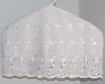 Garment Protector, Bridal Gown Cover-up, White Eyelet, Lined