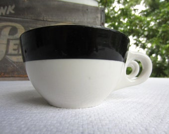 Vintage Black Band Restaurant Ware Cups Buffalo China Diner China set of 3