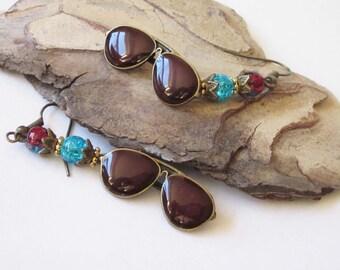 Whimsical Sunglass Earrings Beach Summer Dangle Earrings