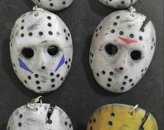 Jason Voorhees Hockey Mask Keychain.
