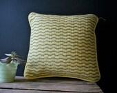 Vintage 1960s 1970s Mod Geometric Pillow Bargello Needlepoint Embroidery
