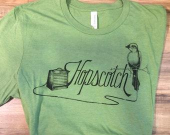 Hopscotch - Fender T-shirt Green Bella Canvas