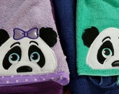 Panda bear 3D Hooded towel