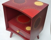 Custom Nightstand Red YouTube Design for Rodriguez
