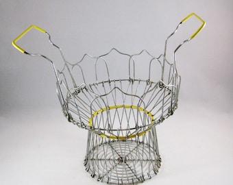 Vintage Egg Basket, Wire Basket Farmhouse Decor