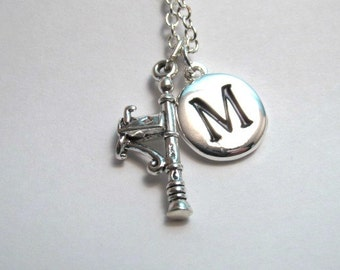 Mailbox on post Sterling Silver Charm, Mailbox Necklace, Mailbox Charm, Mailbox Keychain, Personalized, Monogram Charm