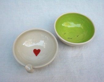 Kitty Dish Set for your Kitty - LIME GREEN