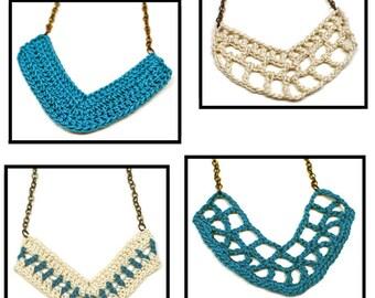 V Pendant Necklaces - PDF Crochet Pattern - Instant Download
