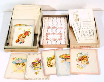 Vintage Note Cards Correspondence Notes The Hat Box, Select a Note