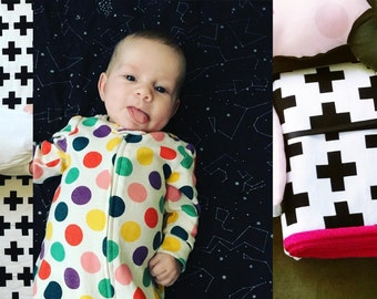 Custom Modern Baby Quilt/Blanket