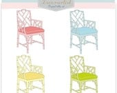 ON SALE Chair Clip art, Furniture CHIPPENDALE Chair 2 , Download and print, Png File , digital clip art