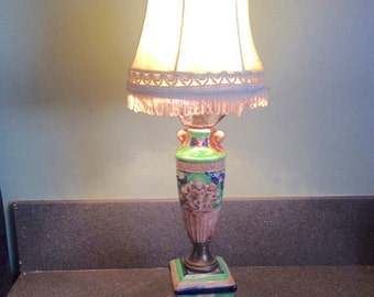 Vintage lamp with cherubs Japan
