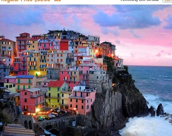 SALE - Ships Aug 27 - Cinque Terre Art, Italy Photography, Italian Village Vernazza Photo Monterosso Manarola Riomaggiore ita9