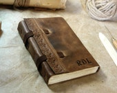 leather journal with vintage style paper in brown - Story