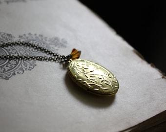 Zodiac Locket Birthday Locket Zodiac Necklace Birthstone Locket Gold Locket Vintage Locket