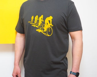 Cyclists and their shadows T shirt