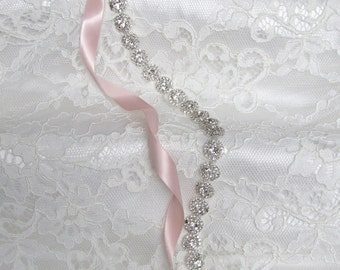 Silver Crystal Rhinestone Bridal Sash,Wedding sash,Belts And Sashes,Bridal Accessories,Bridal Belt and sashes,Ribbon Sash,Style #39