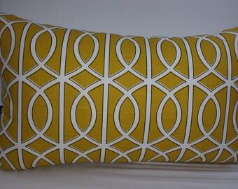 """Dwell Studio Bella Porte, citrine, decorative pillow or pillow cover, 20 x 12"""""""