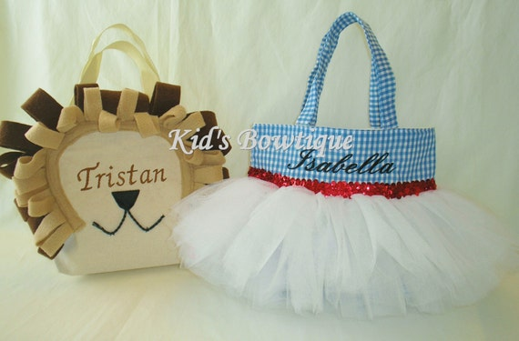 Halloween Monogrammed Tutu Bag - Tutu Bag for you to add to your Dorothy Wizard of Oz Halloween Costume