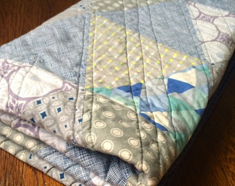 Modern Baby Triangle Quilt