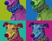 Custom Andy Warhol style pet portrait - digital file