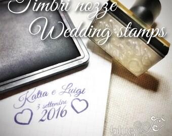 Wedding stamp with plastic handle