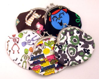 Big SALE - Set of 5 - Bridesmaid gift / Wedding gift / Christmas gift / Small clutch / Coin purse (G1)