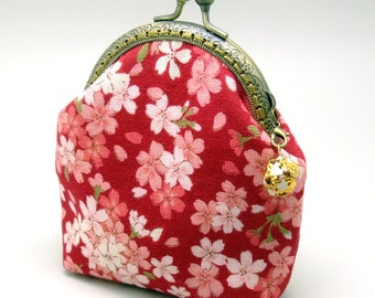 Pink flowers - Small clutch / Coin purse (S-296) R1