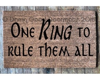 one RING to rule them all, Tolkien doormat