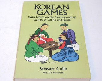 Korean Games With Notes On The Corresponding Games Of China And Japan By Stewart Culin, Vintage Book