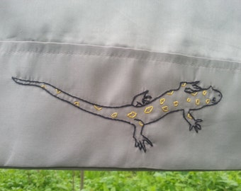 Spotted Salamander pillowcase-hand stitched