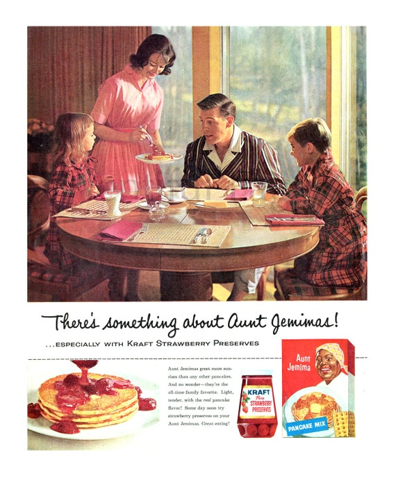 1960 aunt jemima pancake mix erdbeere kraft bewahrt 1960er. Black Bedroom Furniture Sets. Home Design Ideas