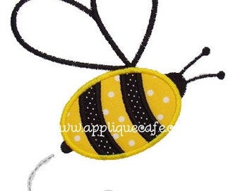 310 Bumble Bee Machine Embroidery Applique Design