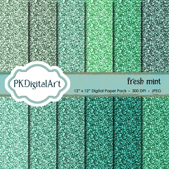 Mint Glitter Background 76240