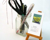 SALE 2016 Mini Desk Calendar -  juicy food art for unique hostess gift / office decor / desk accessory / stocking stuffer