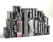Letter I Set - Vintage Metal Letterpress
