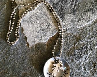 MCKENZIE stamped necklace