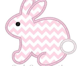 Easter Bunny Machine Embroidery Applique Design