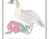 Hawaii State Bird, Flower and Motto Cross Stitch Pattern PDF