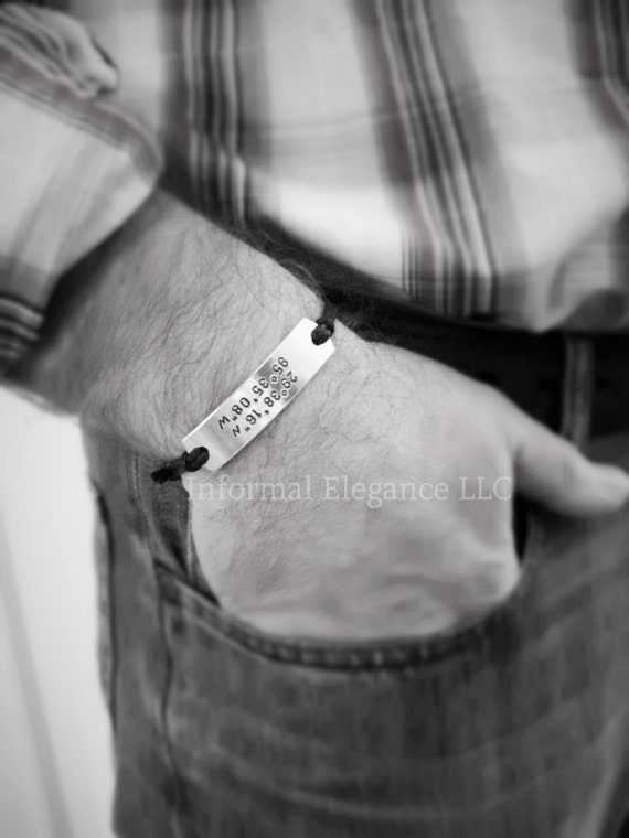 Bracelet with custom coordinates, GPS Bracelet, Husband, Wife, Boyfriend Gift, Girlfriend Gift, Gift, Anniversary,Gift for him, Man gift,gps