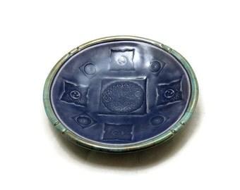Raku  Ceramic Celtic  Offering  Bowl Handmade Raku Pottery