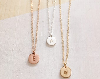 Dainty Necklace | Hand Stamped Necklace | Customized Necklace | Gold Filled Rose Gold Sterling Silver | Monogrammed Necklace