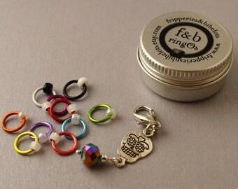 ringOs Sugar Skulls LIMITED EDITION - Snag-Free Ring Stitch Markers for Knitting