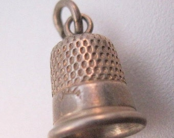 BIGGEST SALE of the Year Antique Thimble Charm Sterling Silver Jewelry Jewellery