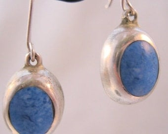 BIGGEST SALE of the Year Sodalite Sterling Drop Dangle Earrings Vintage Jewelry Jewellery