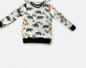Camping bear Sweatshirt, toddler sweater, baby clothes