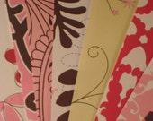 Set of Twelve Bookmarks - Pink Flowers - Booklover's Dream!